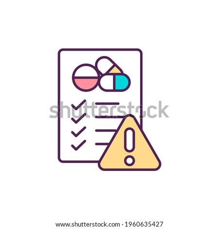 Antibiotics misuse RGB color icon. Drugs overuse. Self-medication. Drug development. Antibiotic resistance health risk. Adverse drug reactions. Bacterial resistance. Isolated vector illustration