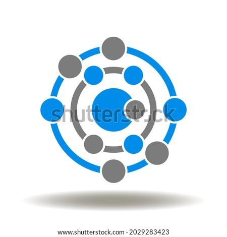Antioxidant atom molecule structure vector illustration. Antioxidants symbol. Photo stock ©