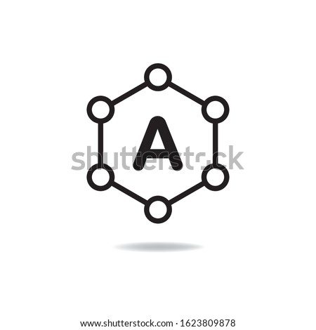 Antioxidant icon design isolated on white background. Vector illustration Сток-фото ©