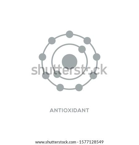 Antioxidant vector icon, radical free oxidant molecule. Сток-фото ©