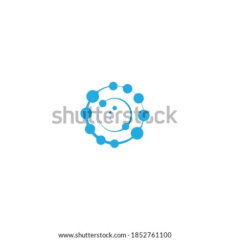 Antioxidante icon vector design illustration,radical free oxidant molecule. Simple Icon Сток-фото ©