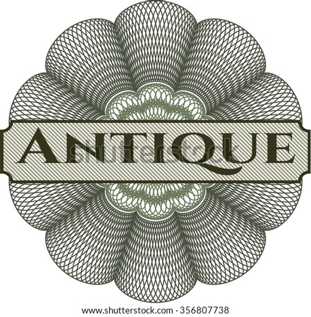 Antique abstract rosette