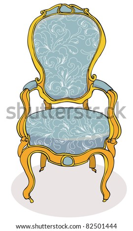 Antique Chair Stock Ve...