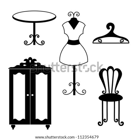 Antique furniture silh...