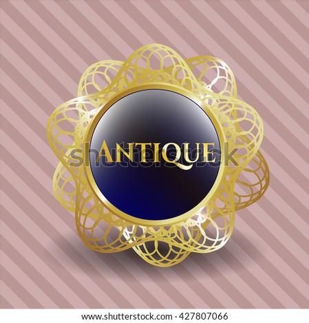 Antique gold badge