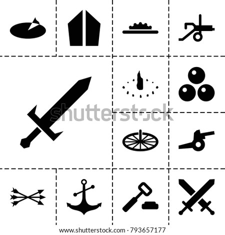 antique icons set of 13