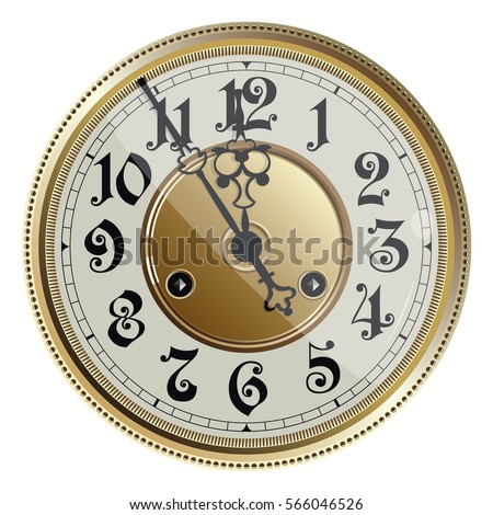 antique old clock face. vector...