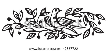 antique ornament engraving, scalable and editable vector illustration
