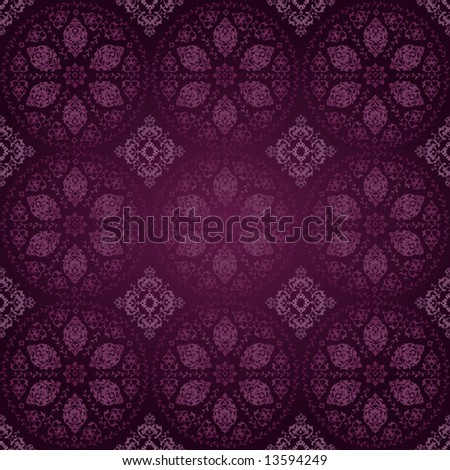 Antique ottoman seamless wallpaper vector design
