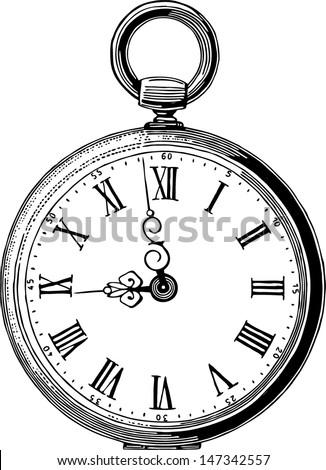 antique pocket watch Foto d'archivio ©