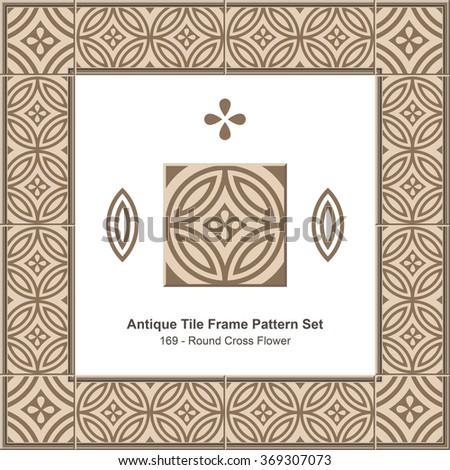 antique tile frame pattern