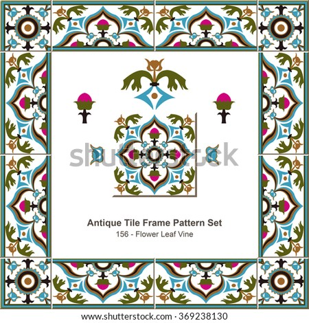 antique tile frame pattern
