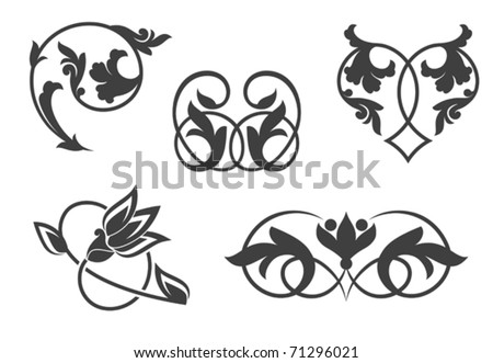 Antique vintage floral patterns. Jpeg version also available in gallery - stock vector