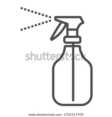 Antiseptic spray grey line icon. Hygiene products. Icon for web pages, mobile apps, and promotions. UI UX GUI design element. Stock vector illustration on a white isolated background.