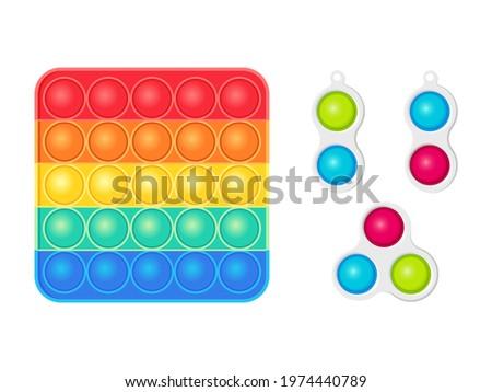 Antistress toys fidget sensory pop it and simple dimple