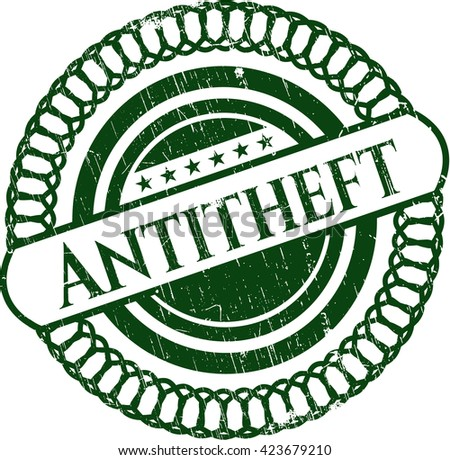 Antitheft rubber grunge stamp
