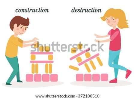 antonyms people construction