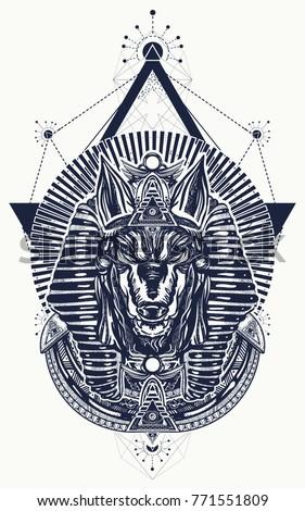 anubis sacred geometry tattoo