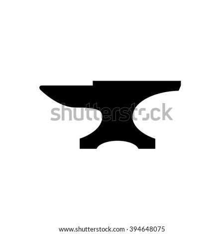 anvil icon black icon isolated