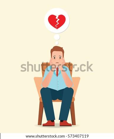 anxious man thinking and