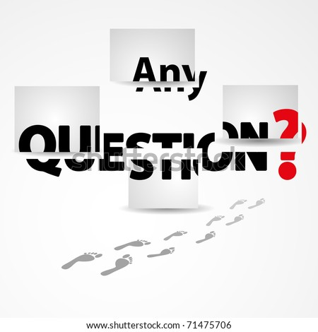 Any Questions Vector Illustration - 71475706 : Shutterstock