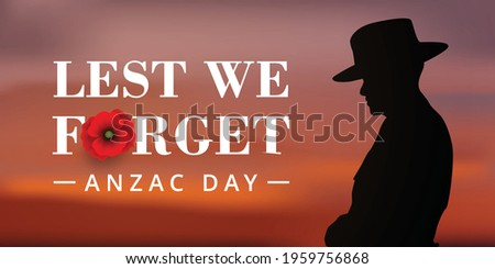 anzac day banner with