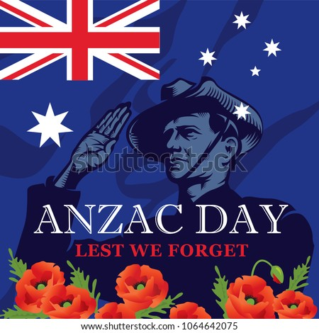 anzac day soldier salute lest