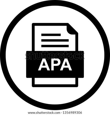 APA File Document Icon Stok fotoğraf ©