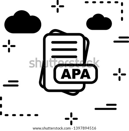 APA File Format Icon For Your Project Stok fotoğraf ©