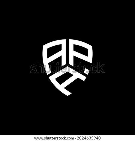 APA Unique abstract geometric vector logo design Stok fotoğraf ©