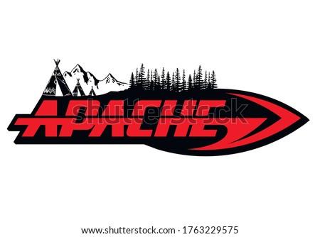 Apache logo vector native american