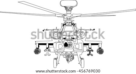 apache war machine vector
