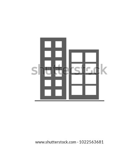 apartment building icon. Element of buildings for mobile concept and web apps. Icon for website design and development, app development. Premium icon on white background