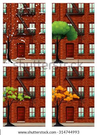 apartment building in four