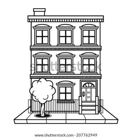 apartment building vector ez canvas