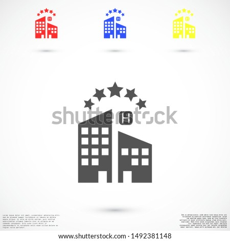 Apartment for sale. Apartment for family. Apartment for living. flat design. Apartment 5 stars.