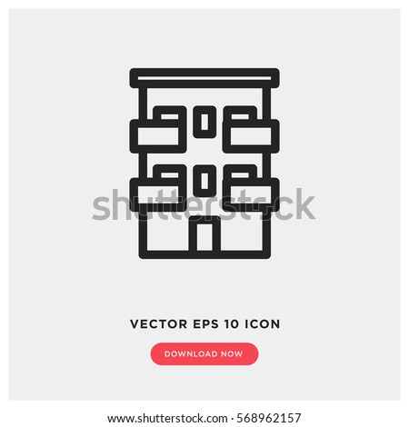 Apartment vector icon, house symbol. Modern, simple flat vector illustration for web site or mobile app