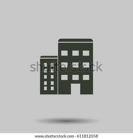 Apartment vector isolated. Flat vector illustration in black. EPS