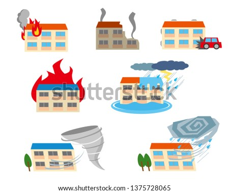 Apartments damaged by natural disasters
