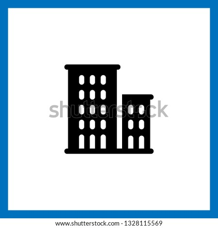 apartments icon vector. apartments vector graphic illustration