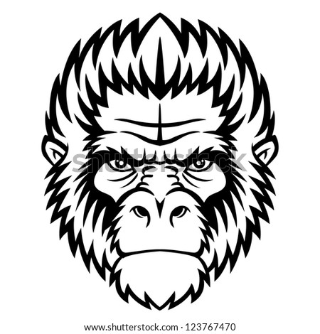 ape head logo in black and