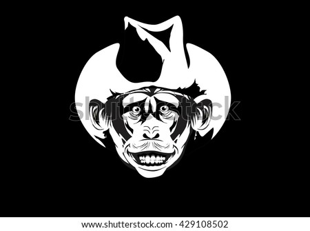 apes head with cowboy hat