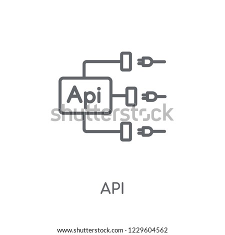 Api linear icon. Modern outline Api logo concept on white background from Programming collection. Suitable for use on web apps, mobile apps and print media.