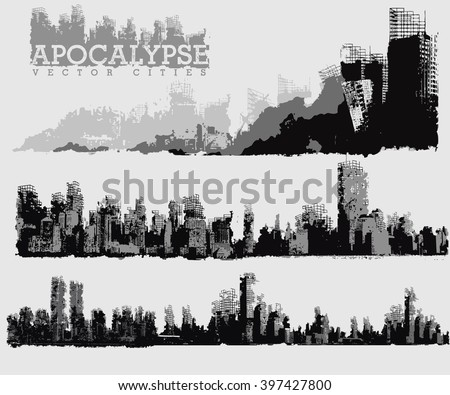 apocalypse vector cities