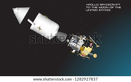 Apollo spacecraft to the moon of the United States