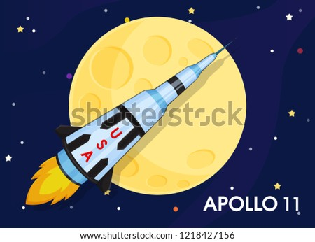 Apollo 11 The spacecraft was sent to explore the world's first moons.