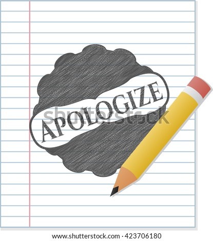 Apologize pencil effect