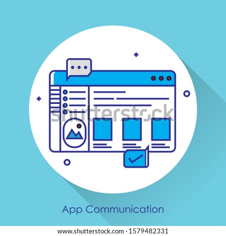App development and web design: layered user interfaces and screens