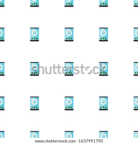 app development icon pattern seamless isolated on white background. Editable flat app development icon. app development icon pattern for web and mobile.
