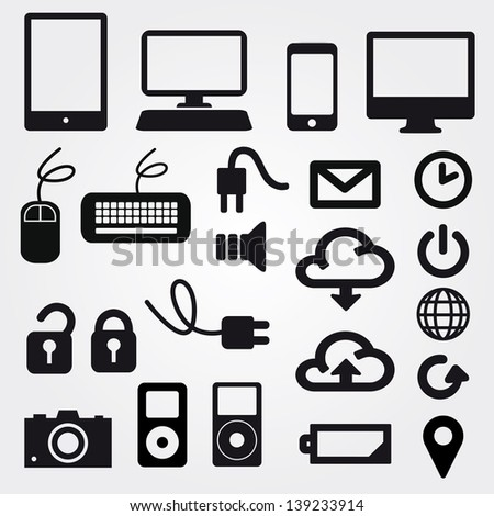 app icon on mobile phone vector icons set